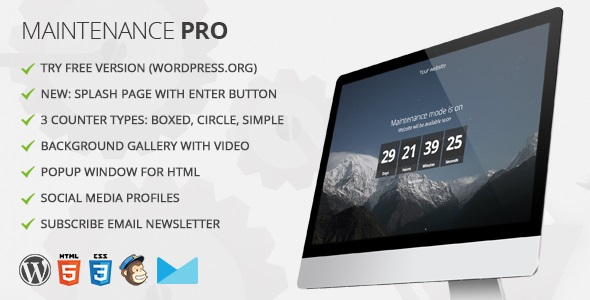 Best Coming Soon & Maintenance Mode Plugin for WordPress: Maintenance Pro