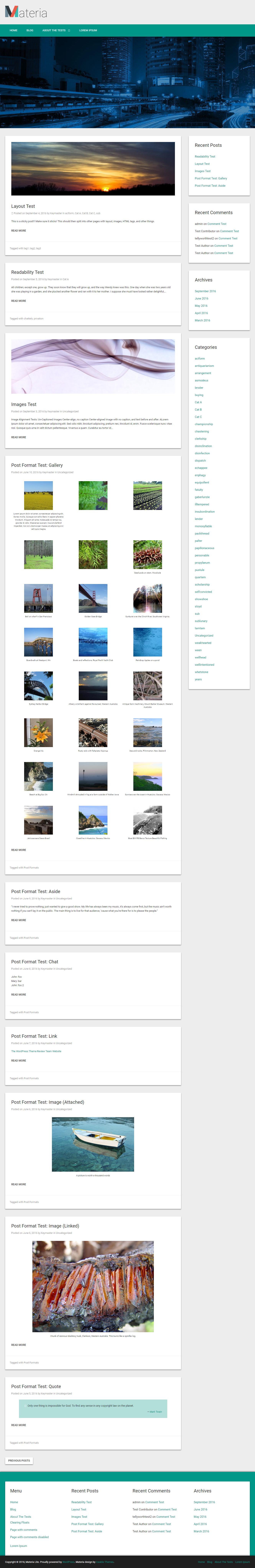Materia Lite - Best Free Material Design WordPress Theme