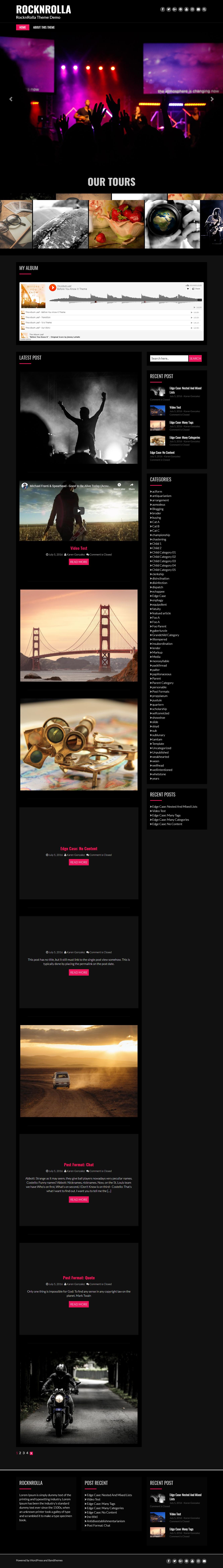 Rock N Rolla - Best Free Material Design WordPress Theme