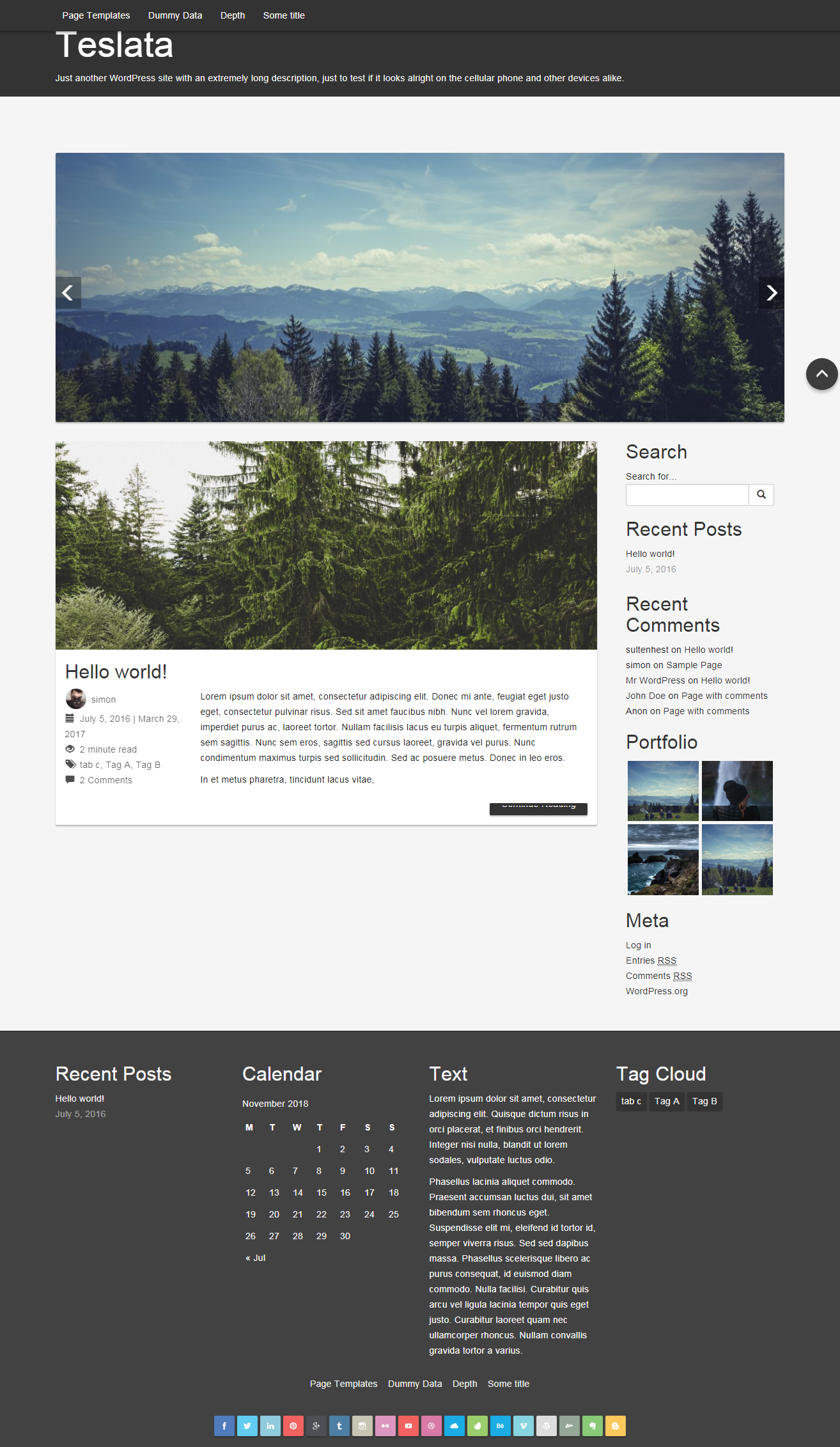 Teslata - Best Free Material Design WordPress Theme