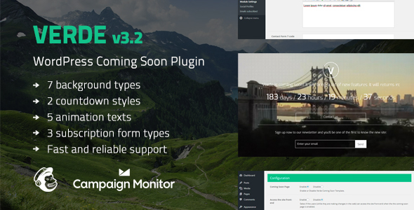 Best Coming Soon & Maintenance Mode Plugin for WordPress: Verde