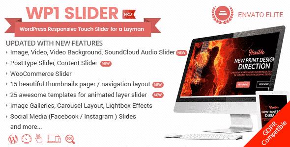 Best WordPress Slider Plugin: WP1 Slider Pro