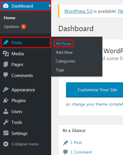 Add Featured Image in WordPress.