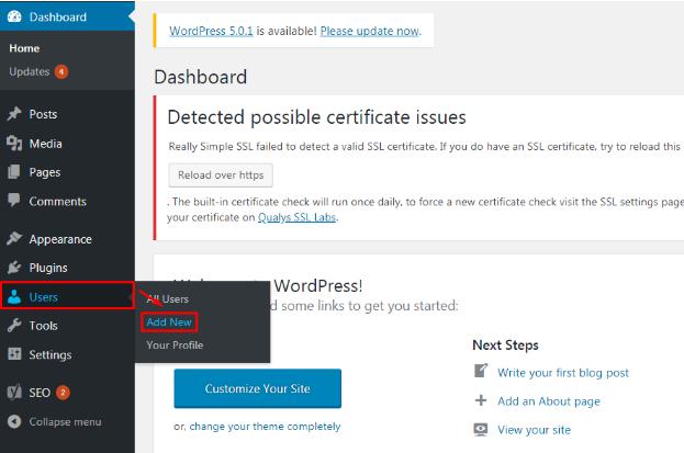 Add a New WordPress Admin User.