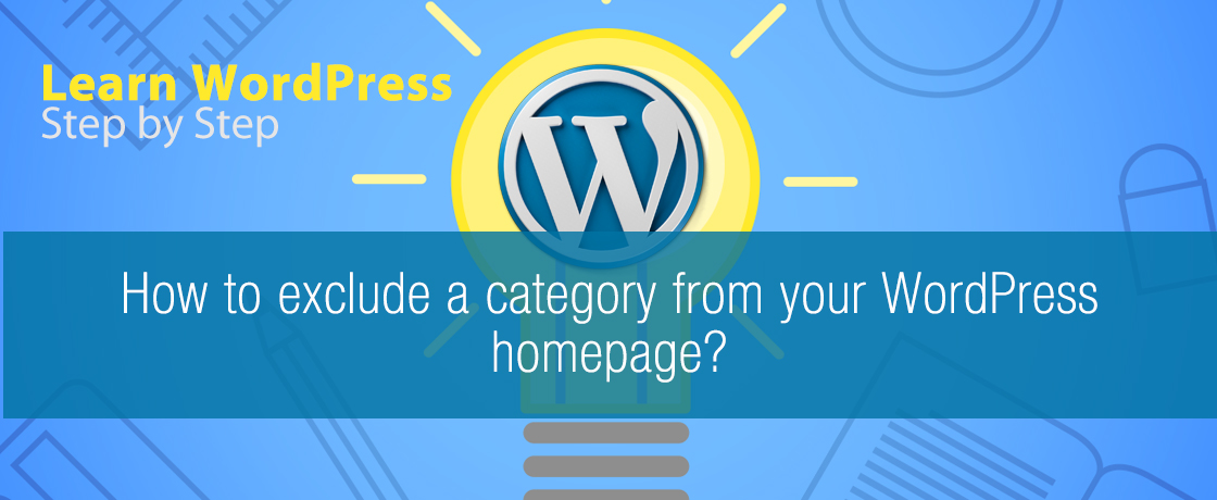 How to exclude a category from your WordPress homepage?