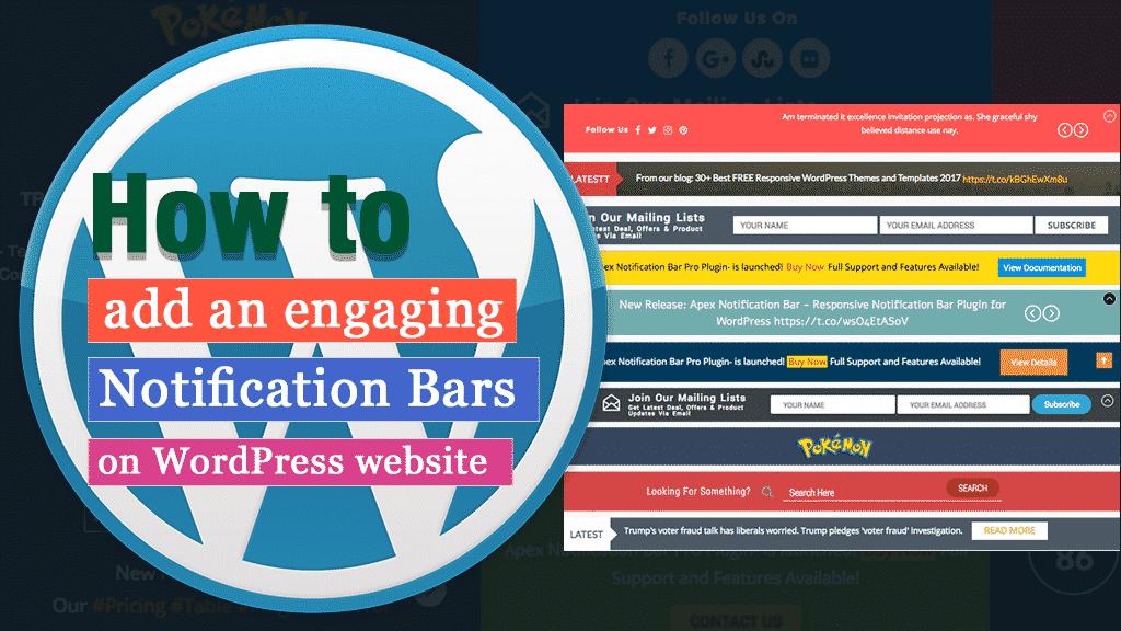 add an engaging notification bar on your wordpress website