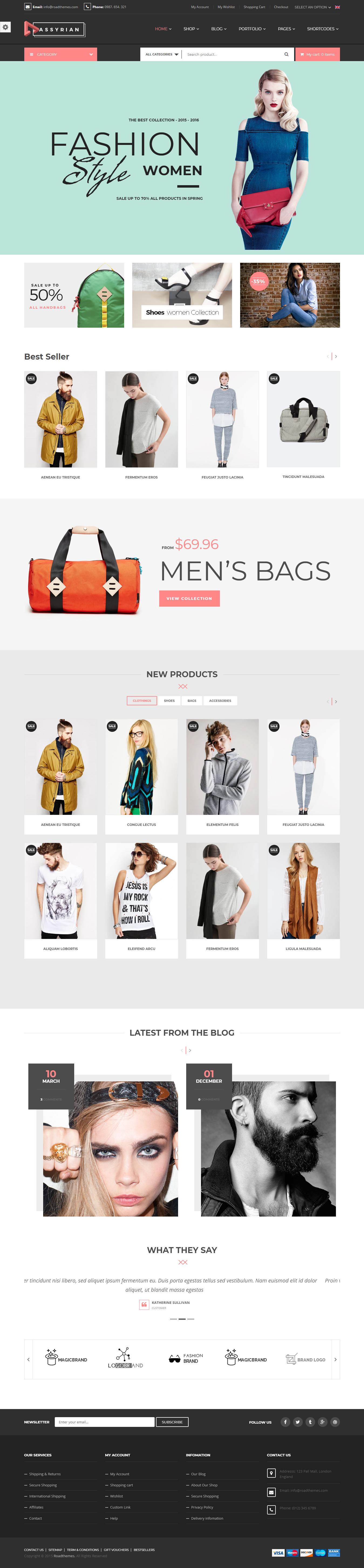 Assyrian - Best Premium Fashion WordPress Themes