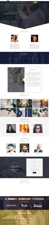 bb wedding bliss best free wedding wordpress theme - 10+ Best Free Wedding WordPress Themes