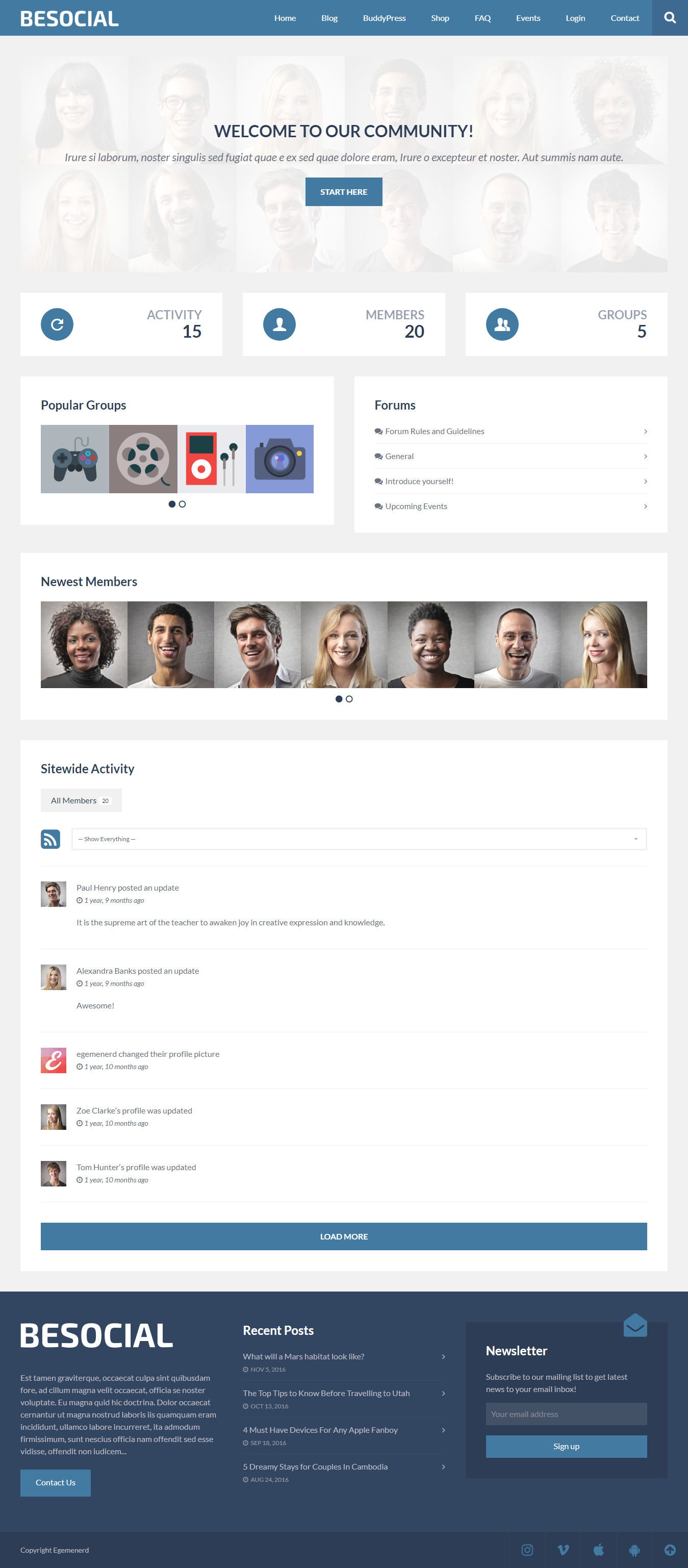 Besocial - Best Premium BuddyPress WordPress Theme