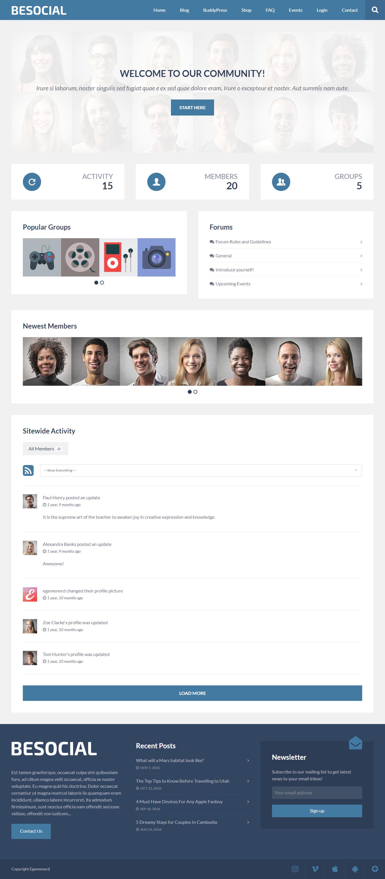 besocial best premium buddypress wordpress theme - 10+ Best Premium BuddyPress WordPress Themes