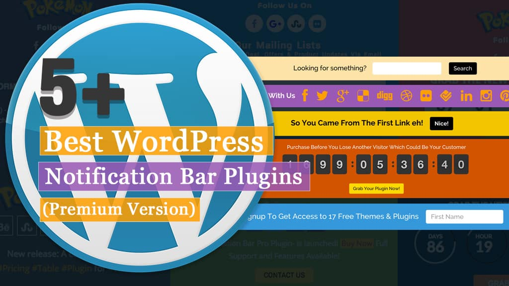 5+ Best WordPress Notification Bar Plugins (Premium Version)