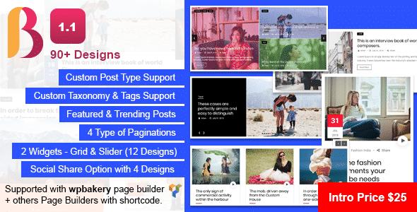Best WordPress Blog Manager Plugin: Blog Designer Pack Pro