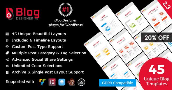 Best WordPress Blog Manager Plugin: Blog Designer Pro