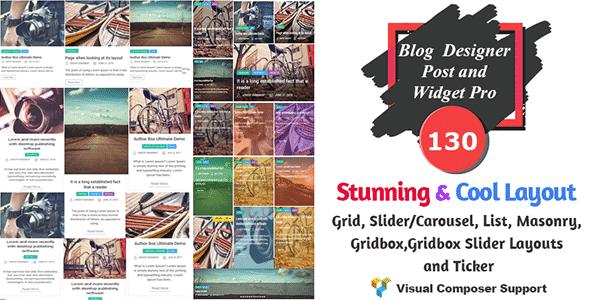 Best WordPress Blog Manager Plugin: Blog Designer