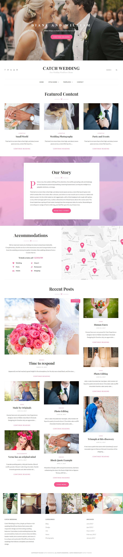 catch wedding best free wedding wordpress theme - 10+ Best Free Wedding WordPress Themes