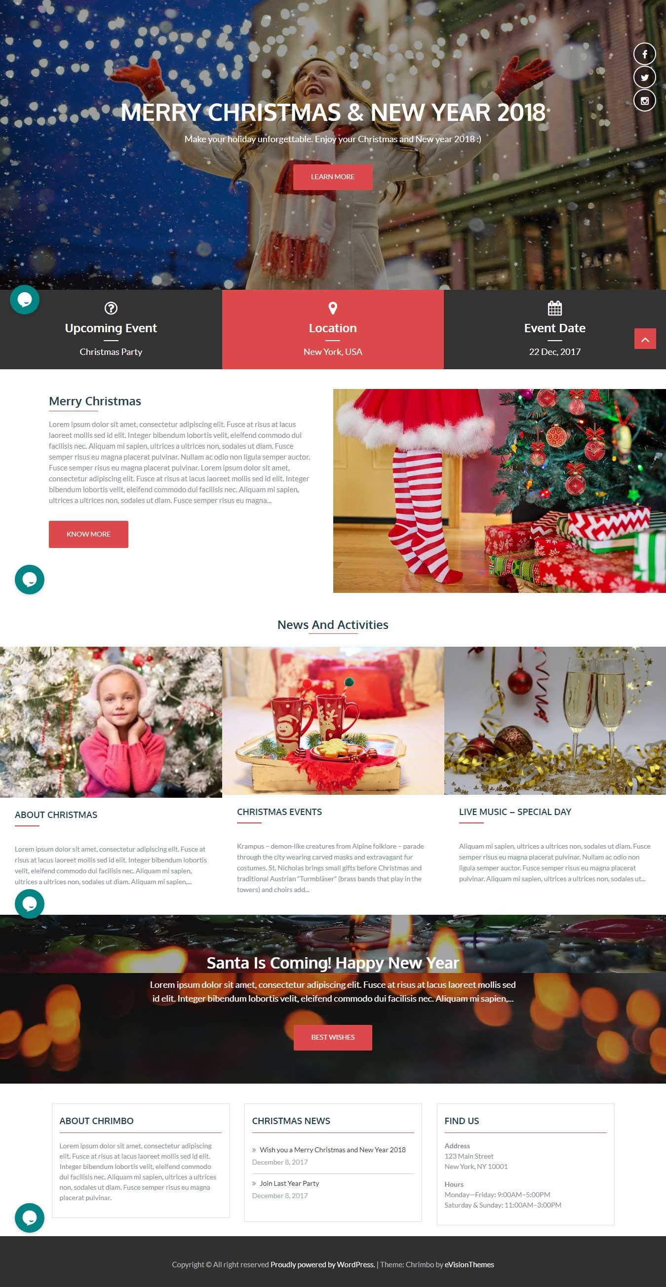Chrimbo - Best Free Event WordPress Theme