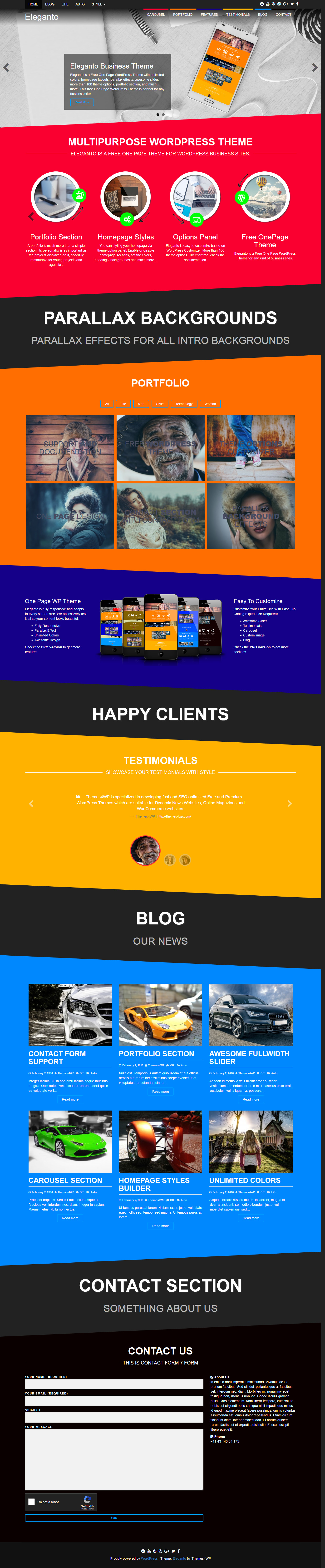 Eleganto - Best Free Event WordPress Theme