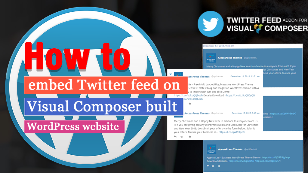 How to embed Twitter Feed on Visual Composer Built WordPress website?