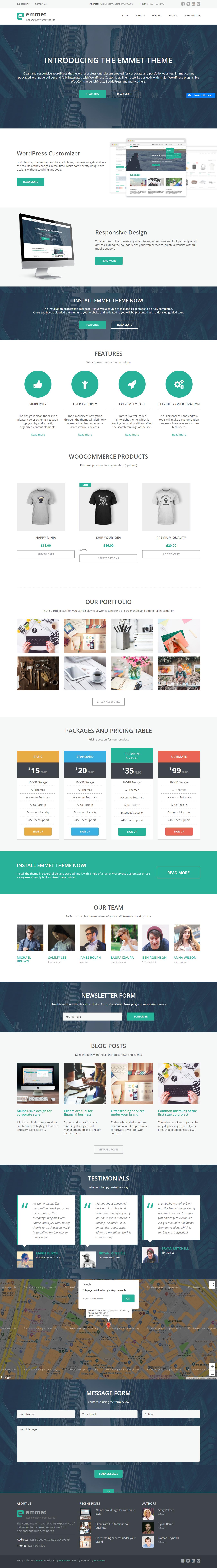 Emmet Lite - Best Free BuddyPress WordPress Theme