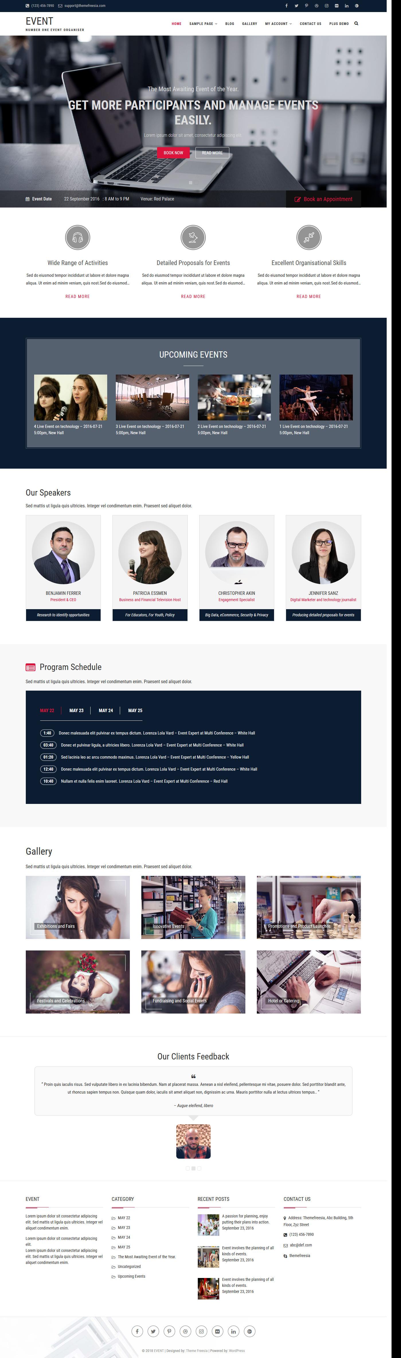 Event - Best Free Event WordPress Theme