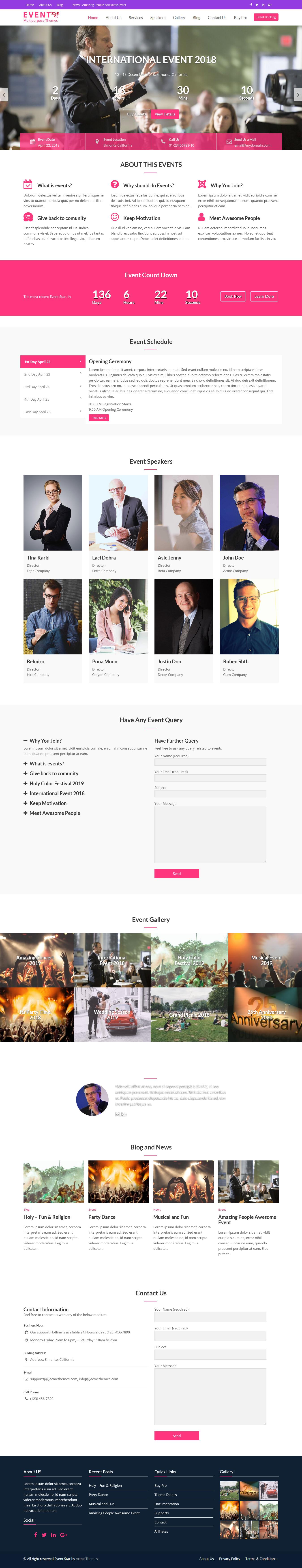 Event Star - Best Free Event WordPress Theme