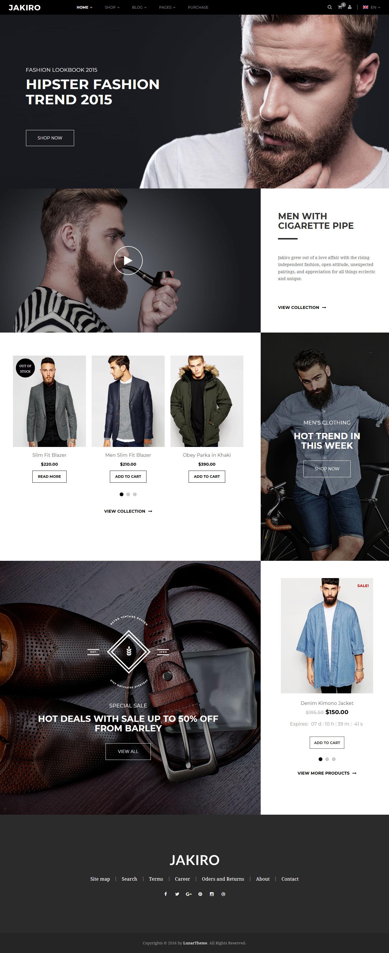 Jakiro - Best Premium Fashion WordPress Themes