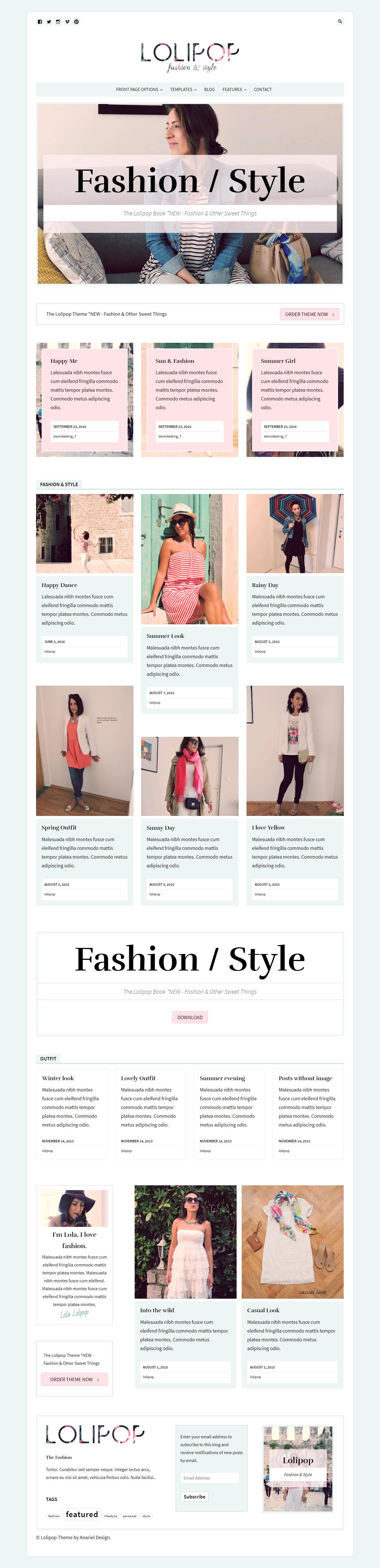 Lolipop - Best Premium Fashion WordPress Themes
