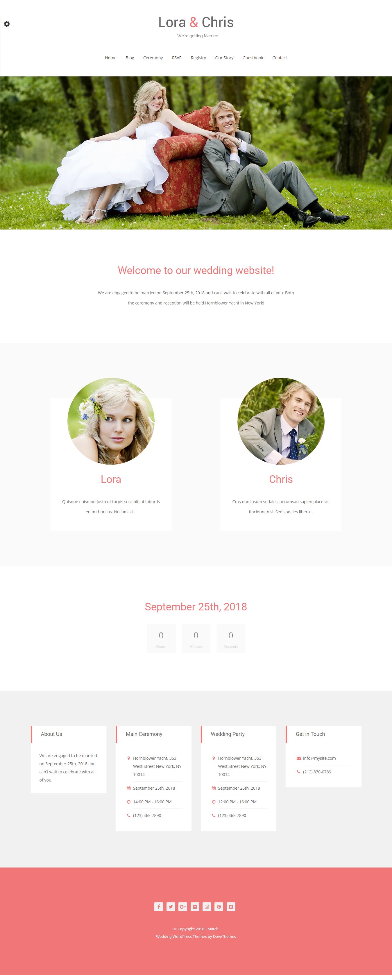 match best free wedding wordpress theme - 10+ Best Free Wedding WordPress Themes