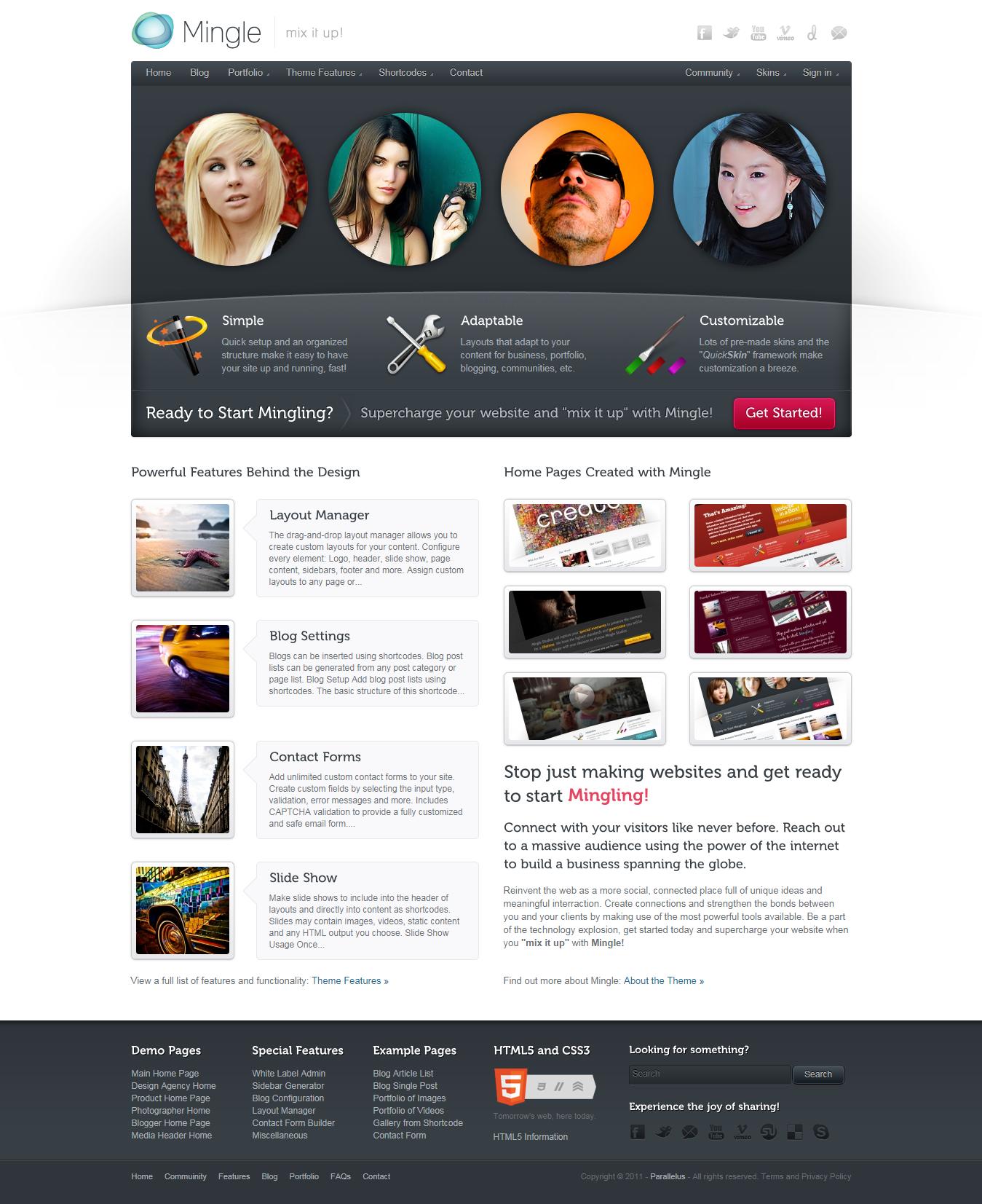 mingle best premium buddypress wordpress theme - 10+ Best Premium BuddyPress WordPress Themes