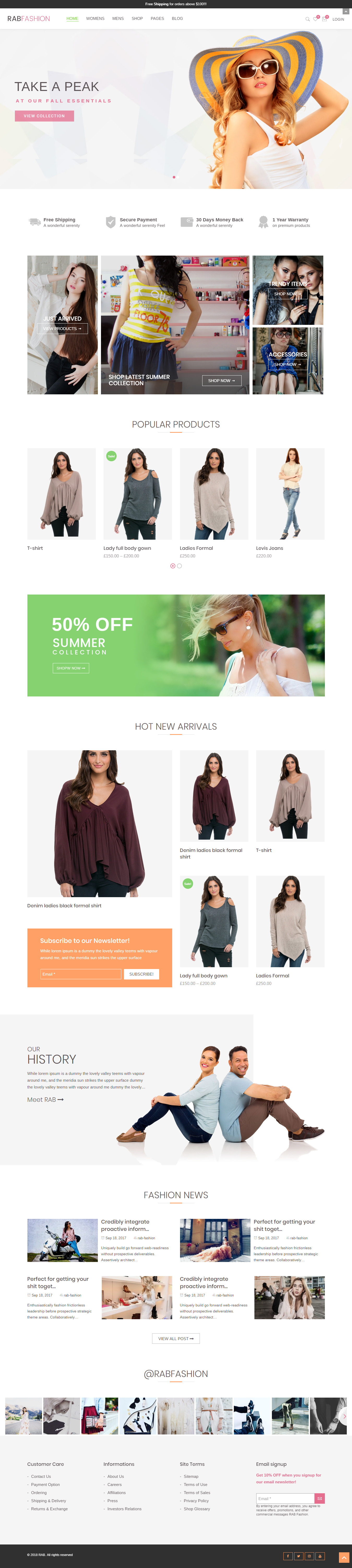 RAB - Best Premium Fashion WordPress Themes