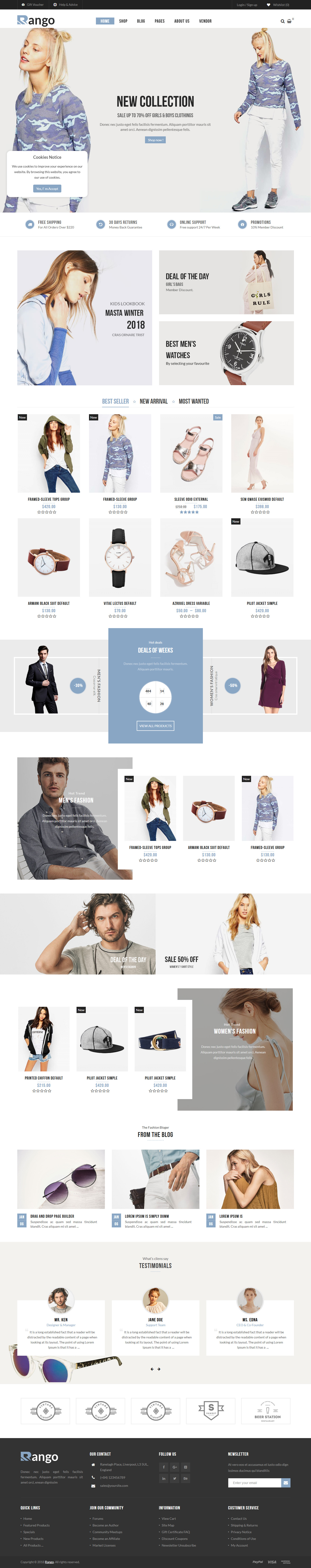 Rango - Best Premium Fashion WordPress Themes