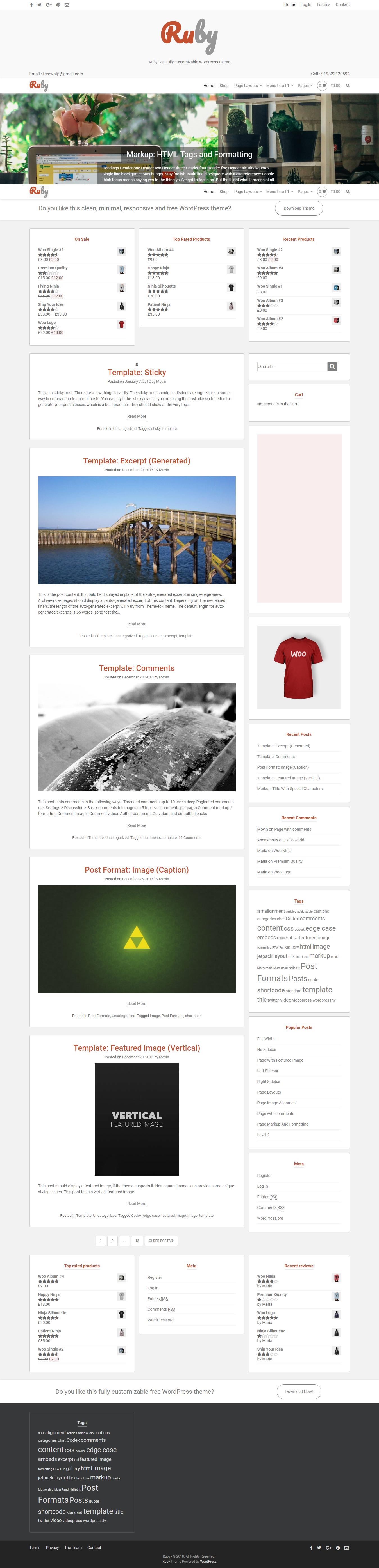 Ruby - Best Free BuddyPress WordPress Theme
