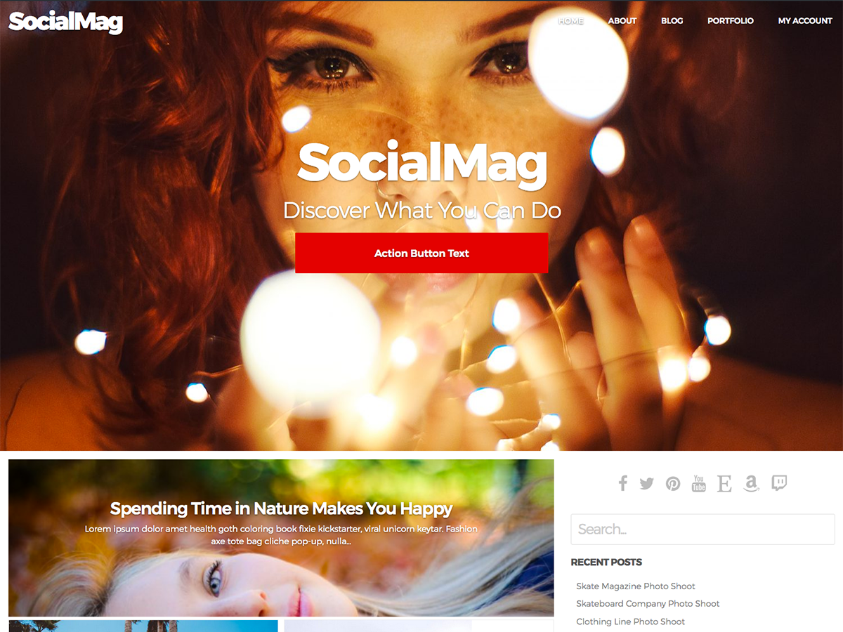 SocialMag - Best Free BuddyPress WordPress Theme