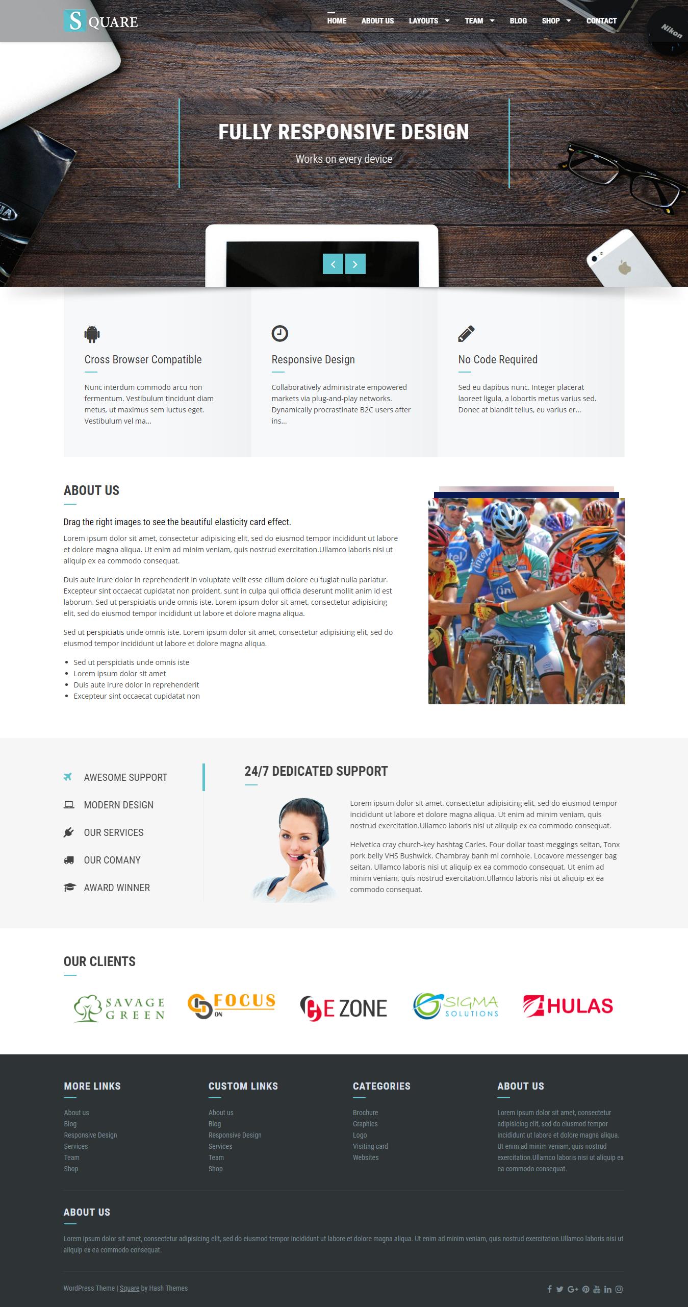 Square - Best Free BuddyPress WordPress Theme