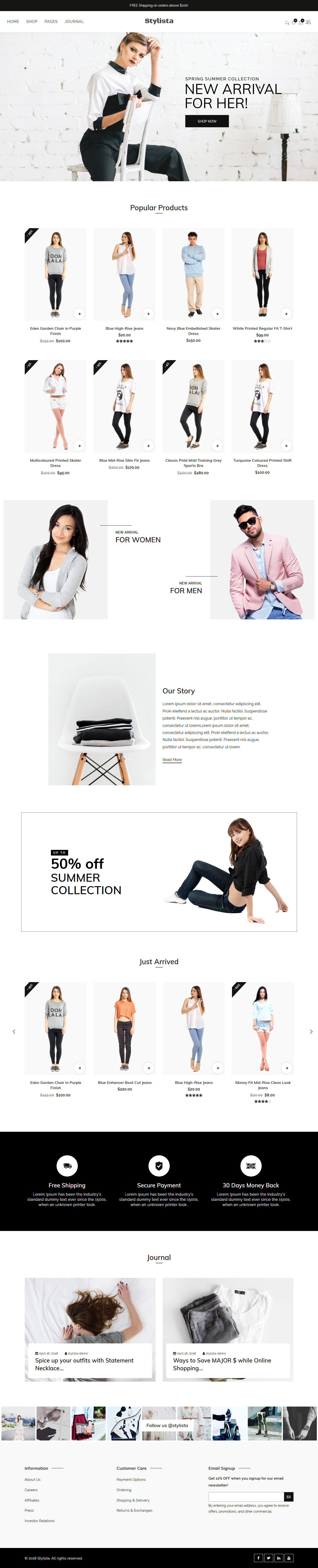 Stylista - Best Premium Fashion WordPress Themes