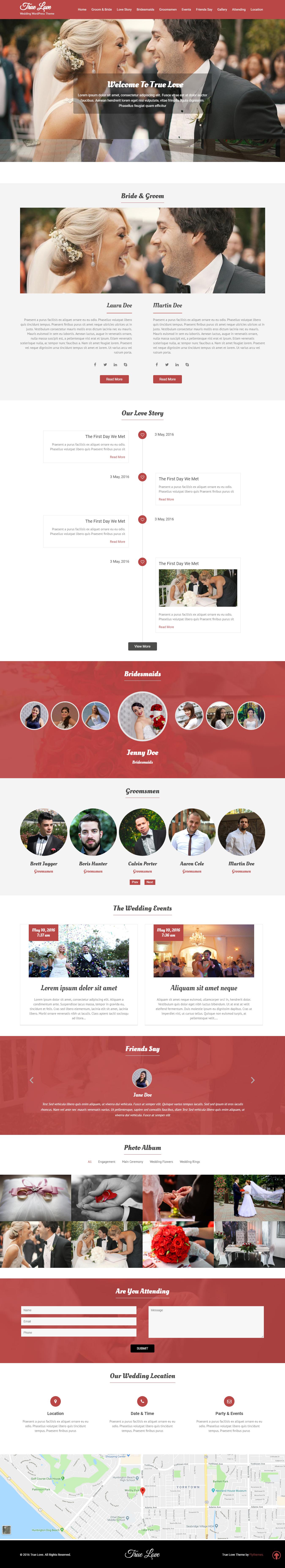 true love best free wedding wordpress theme - 10+ Best Free Wedding WordPress Themes
