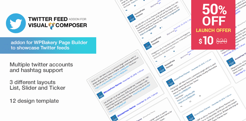 Twitter Feed Addon for Visual Composer