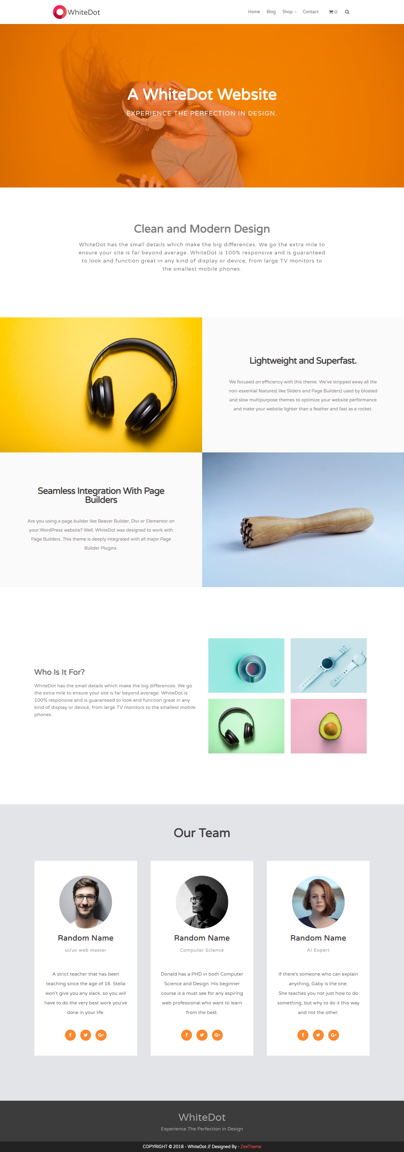 WhiteDot - Best Free BuddyPress WordPress Theme