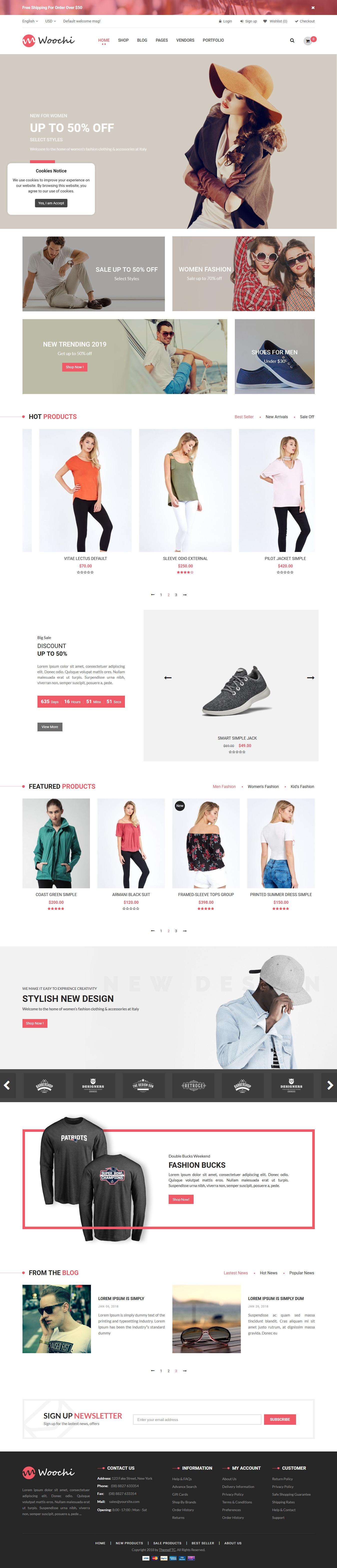 Woochi - Best Premium Fashion WordPress Themes