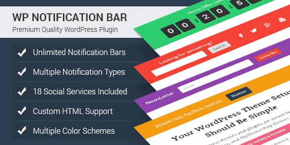 Best WordPress Notification Bar Plugin: WP Notification Bar Pro