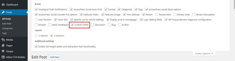 Fixing Custom Fields Not Showing in WordPress.