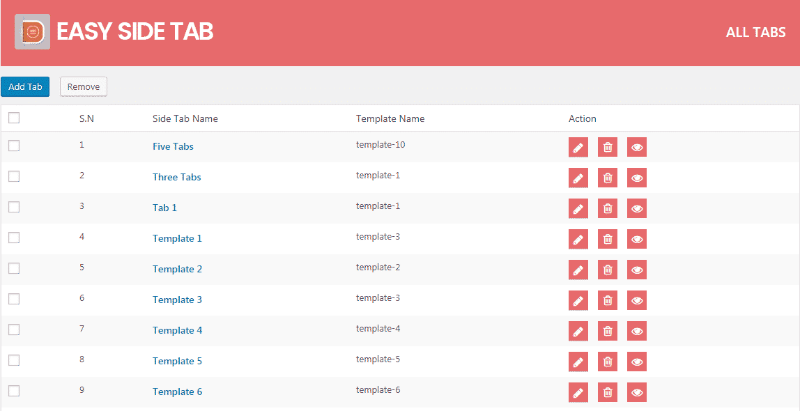 Easy Side Tab Pro: All Tabs