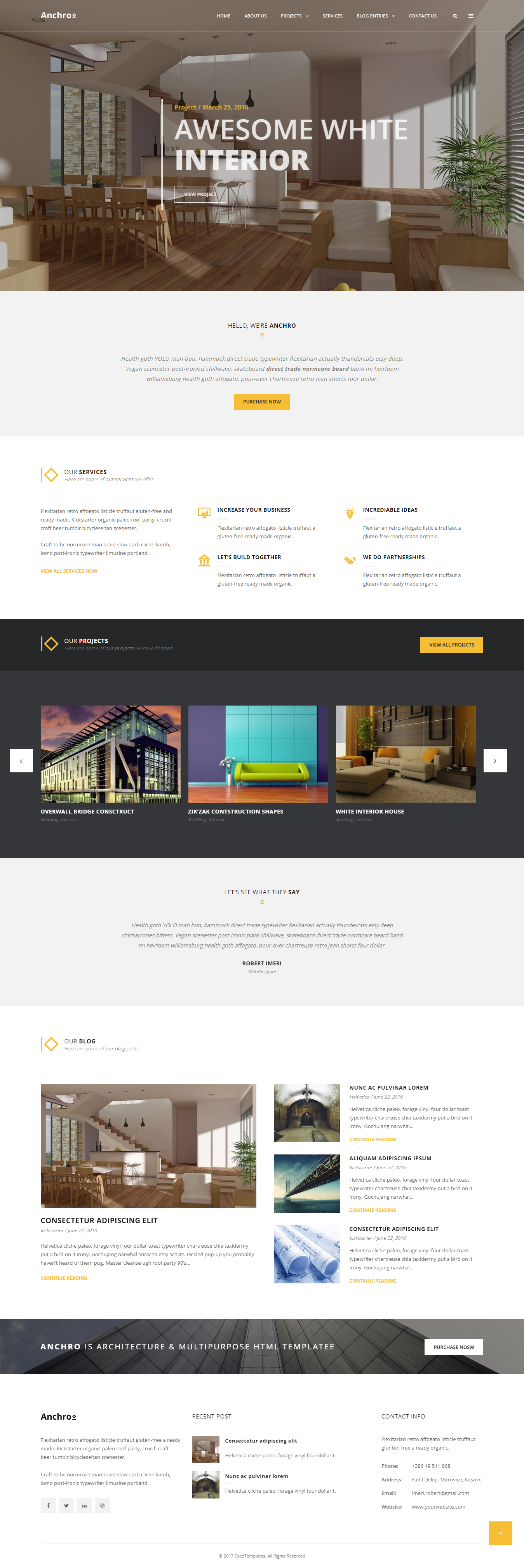 Anchro - Best Premium Architecture WordPress Theme
