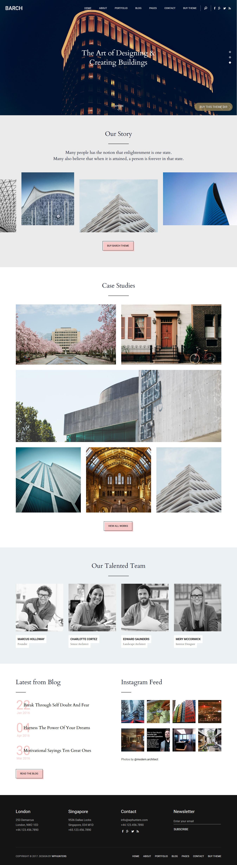Barch -Best Premium Architecture WordPress Theme