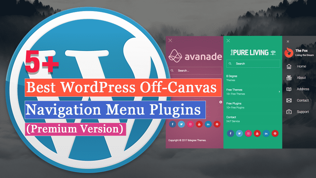 Best WordPress Off-Canvas Navigation Menu Plugins