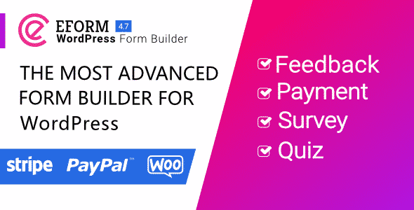 Best WordPress Form Builder Plugin: eForm