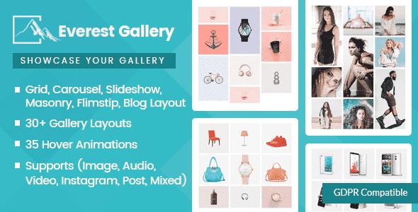 Best WordPress Gallery Plugin: Everest Gallery
