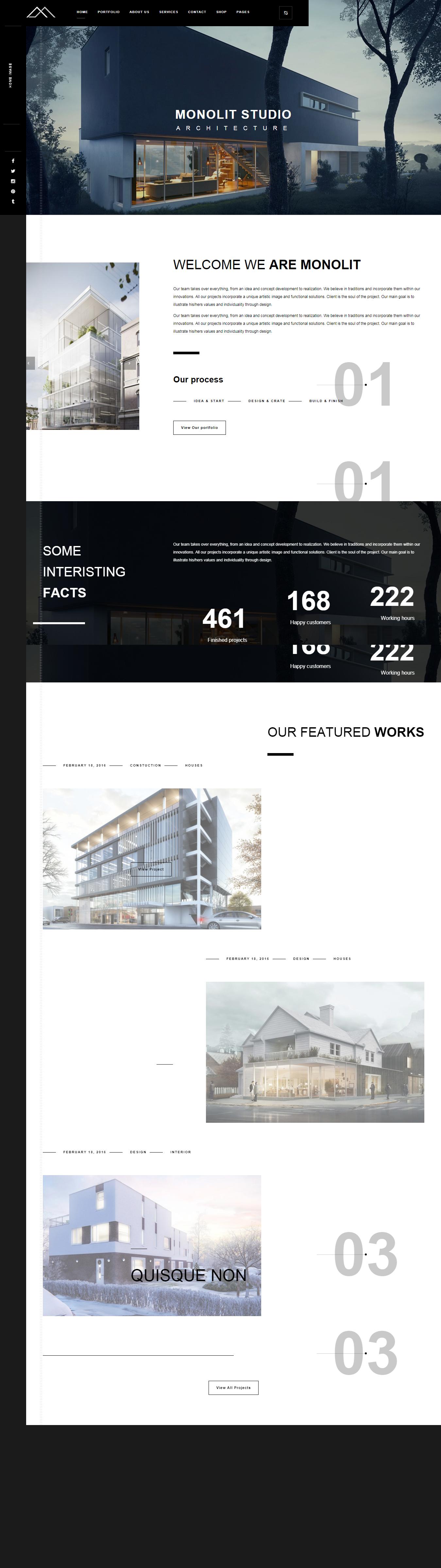 Monolit- Best Premium Architecture WordPress Theme