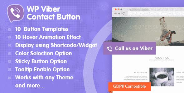 Best WordPress Viber Button Plugin: WP Viber Contact Button