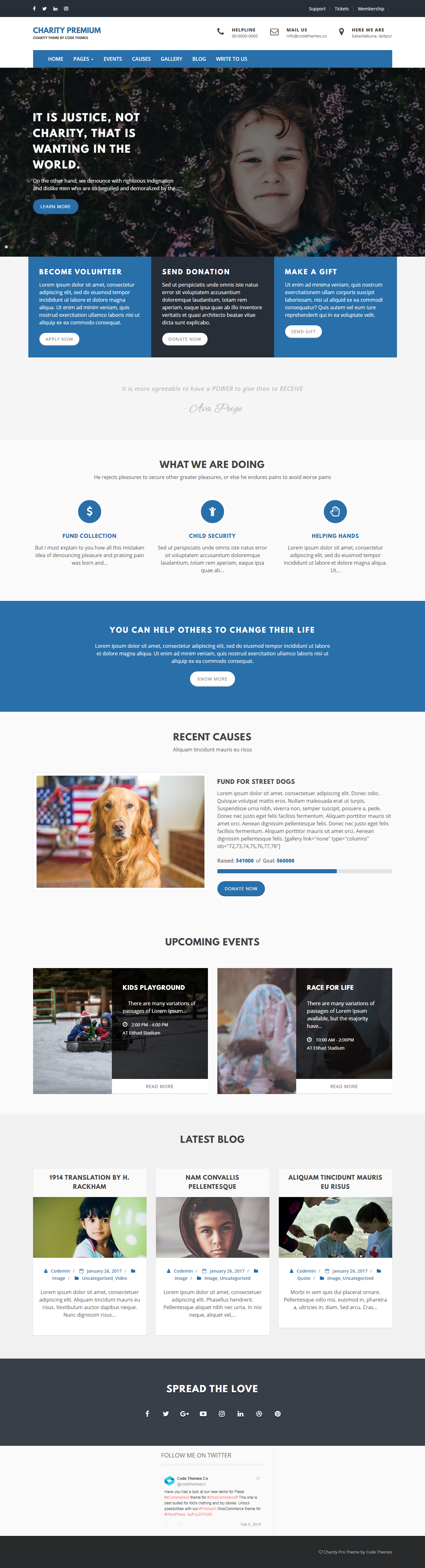 charity review best free church wordpress theme - 10+ Best Free WordPress Church Themes